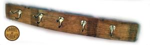 5 Hook Rack Silver