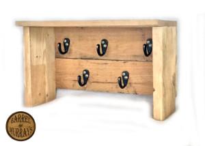 5 hook shelf rack