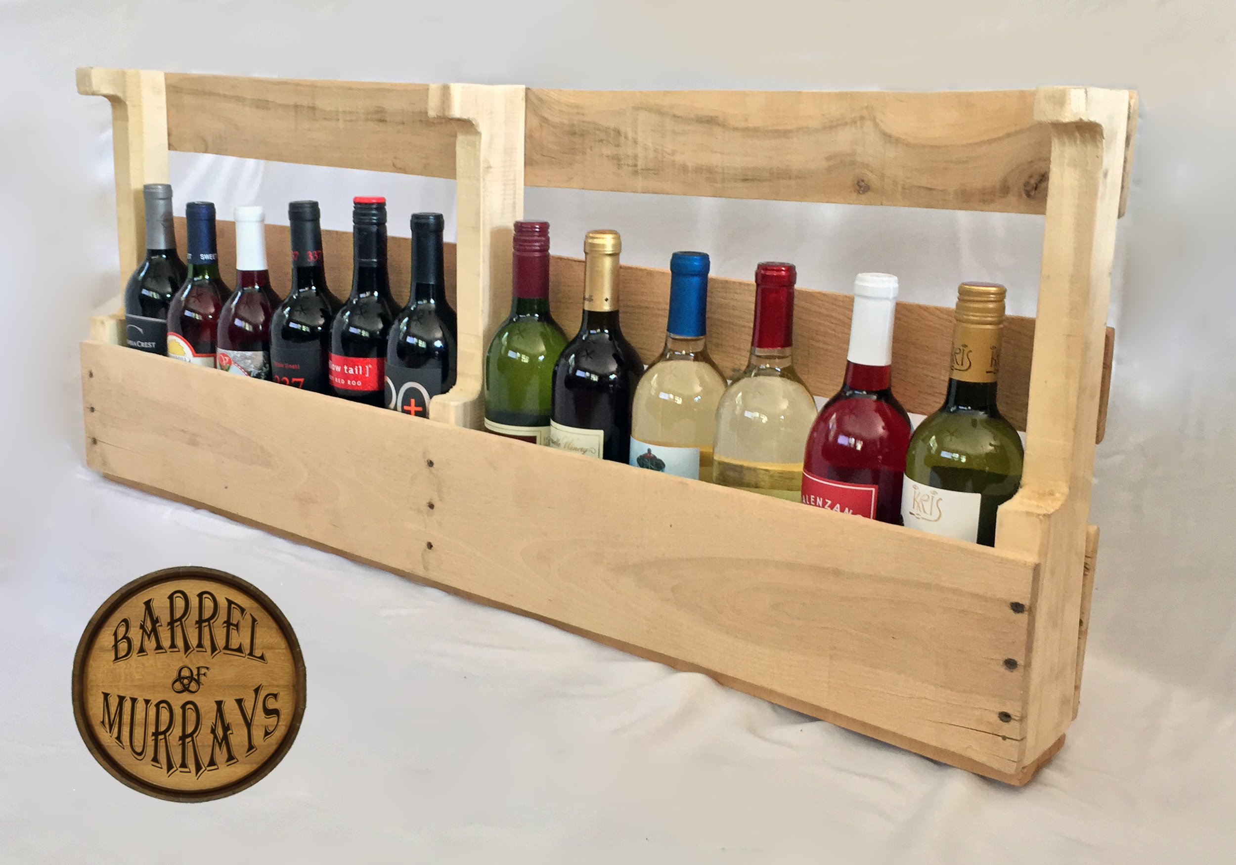 Pallet 12 Bottle Wine Rack – Barrel Of Murrays
