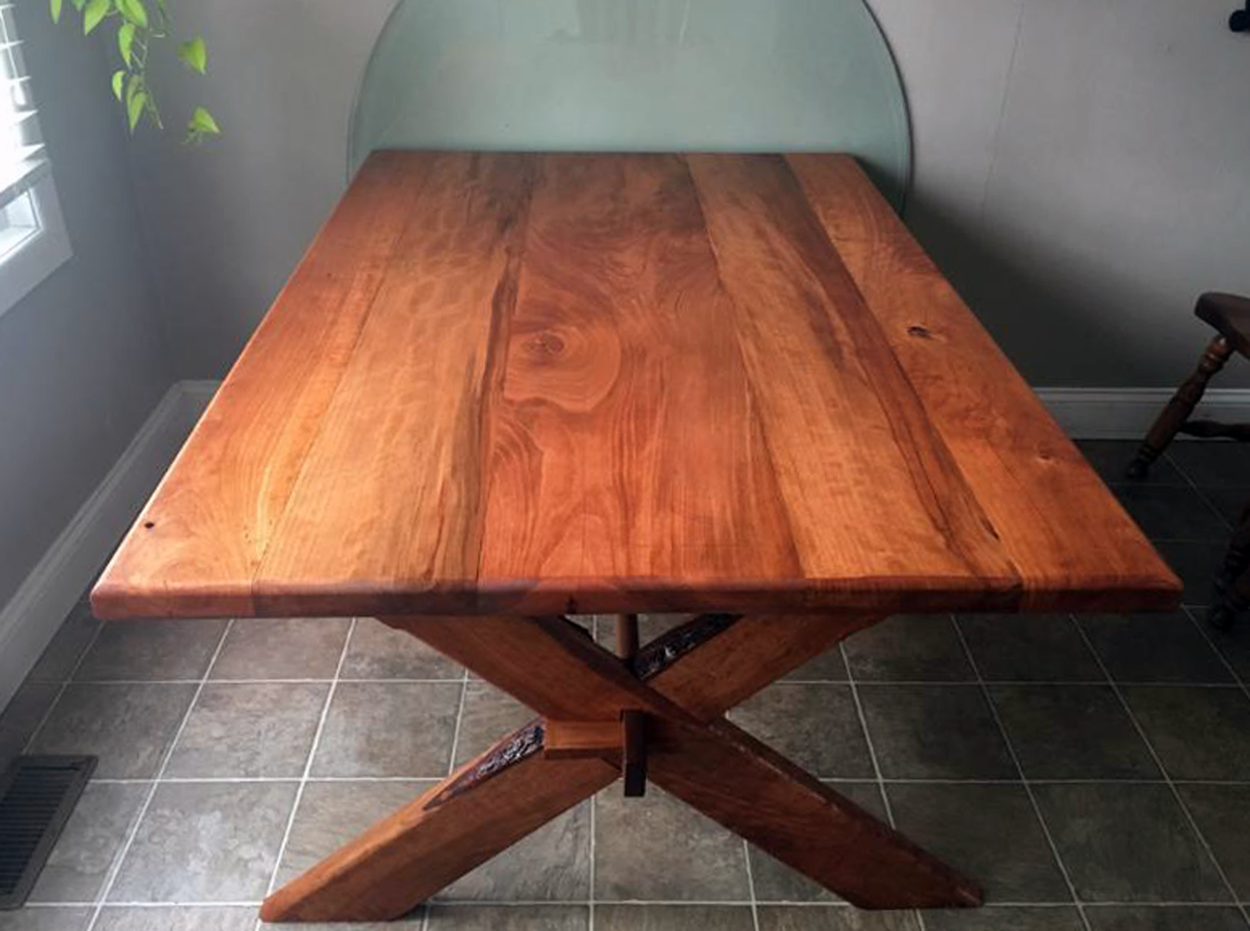 Cabin Style Table Amp Benches Barrel Of Murrays