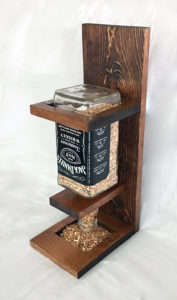 Jack Bottle Bird Feeder